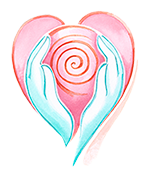 Mizan Therapy Logo - hands holding Womb-Heart